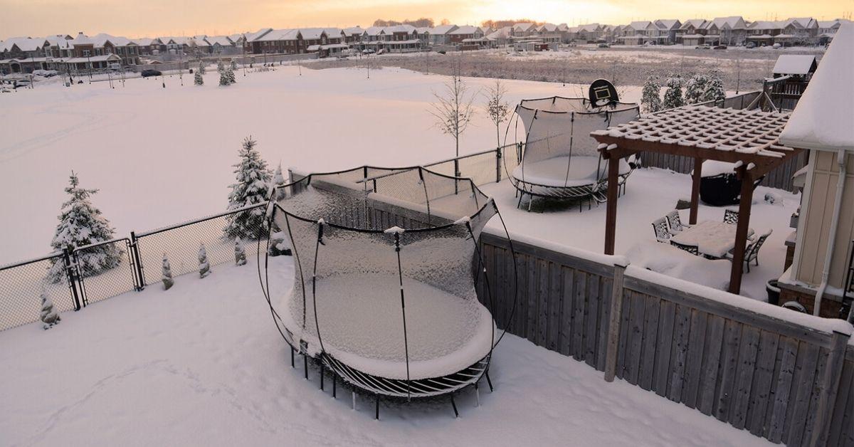 howto winterize a trampoline